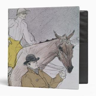 The jockey led to the start binder