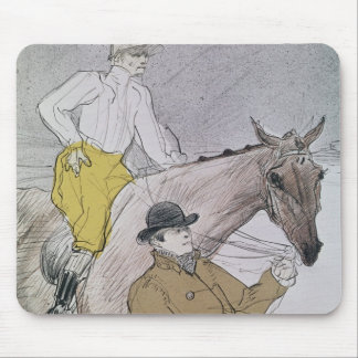 The jockey led to the start mouse pad