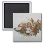 The Johann Strauss Orchestra at a Court Ball 2 Inch Square Magnet