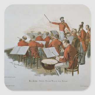 The Johann Strauss Orchestra at a Court Ball Square Sticker