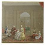 The John Bacon Family, c.1742-43 (oil on canvas) Tile