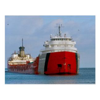 The John G. Munson Ship on Lake Superior Postcard