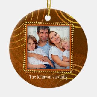 The Johnson's Family - Christmas 20XX Ceramic Ornament