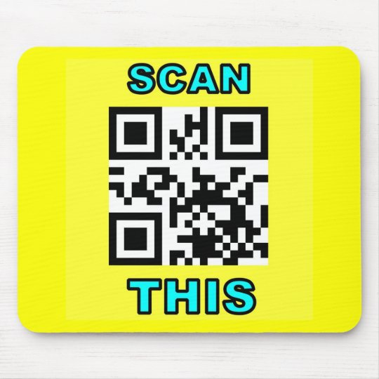 THE JOKE IS ON YOU (Qr Message Code Product) Mouse Pad