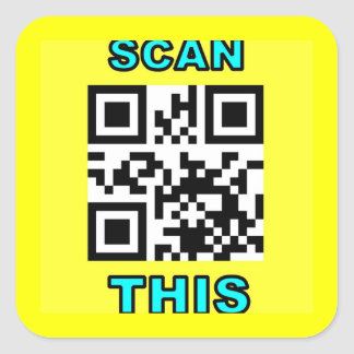 THE JOKE IS ON YOU (Qr Message Code Product) Square Sticker