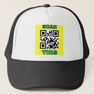 THE JOKE IS ON YOU (Qr Message Code Product) Trucker Hat
