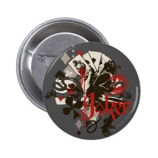The Joker - 4 Aces Bleeding Heart Devil Pinback Button