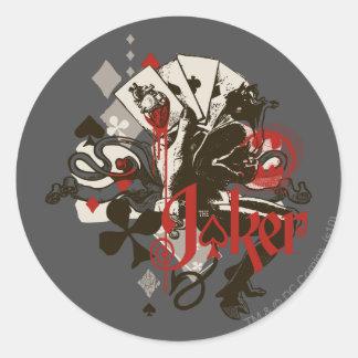 The Joker - 4 Aces Bleeding Heart Devil Classic Round Sticker