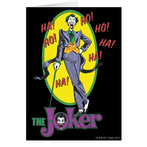 The Joker Cackles 2 Greeting Cards