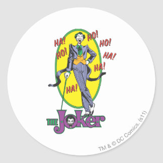 The Joker Cackles 2 Classic Round Sticker