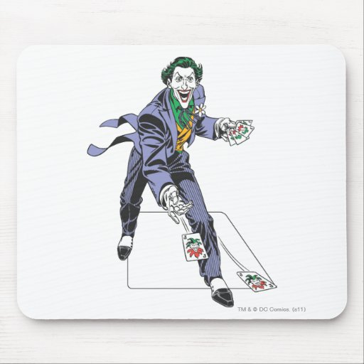 The Joker Casts Cards Mouse Pad