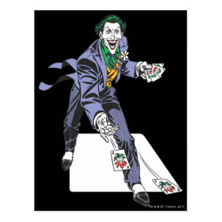 The Joker Casts Cards Postcards