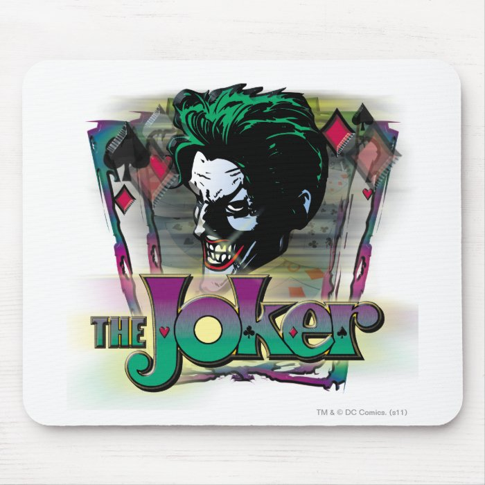 The Joker - Face and Logo Mouse Pad