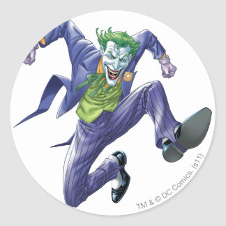 The Joker Jumps Classic Round Sticker