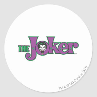 The Joker Logo Classic Round Sticker