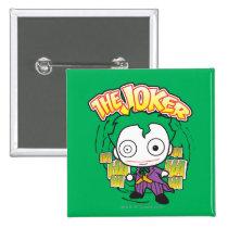 the joker, chibi joker, japanese toy, dc comics, joker design, joker graphic, joker ha haha hahaha, joker laugh, cartoon joker, Button with custom graphic design