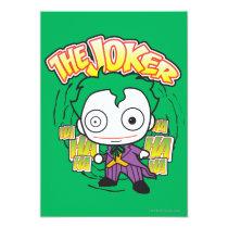 the joker, chibi joker, japanese toy, dc comics, joker design, joker graphic, joker ha haha hahaha, joker laugh, cartoon joker, Invitation with custom graphic design