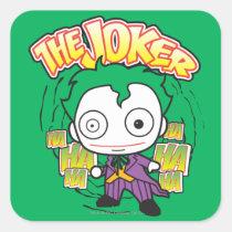 the joker, chibi joker, japanese toy, dc comics, joker design, joker graphic, joker ha haha hahaha, joker laugh, cartoon joker, Sticker with custom graphic design