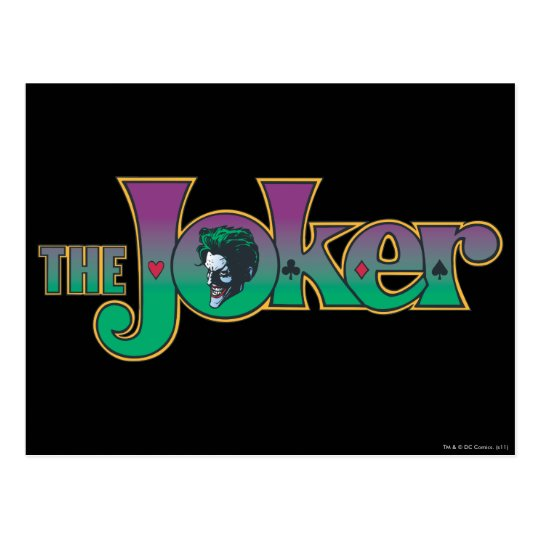 The Joker Name Logo Postcard