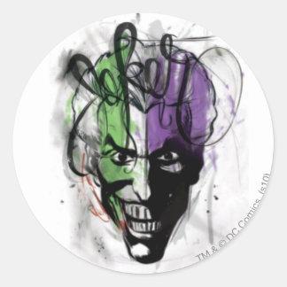 The Joker Neon Airbrush Portrait Classic Round Sticker