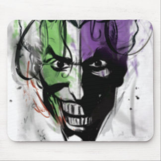 The Joker Neon Airbrush Portrait Mouse Pad