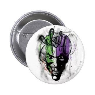 The Joker Neon Airbrush Portrait Pinback Button