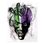 The Joker Neon Airbrush Portrait Post Cards
