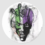 The Joker Neon Airbrush Portrait Sticker