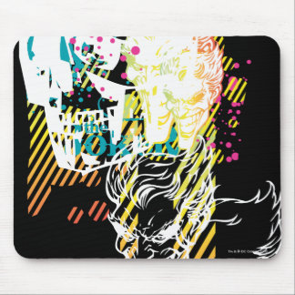 The Joker Neon Montage Mouse Pad