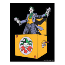 The Joker Out of the Box Postcard