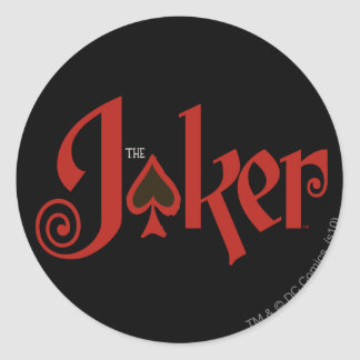 The Joker Playing Card Logo Classic Round Sticker