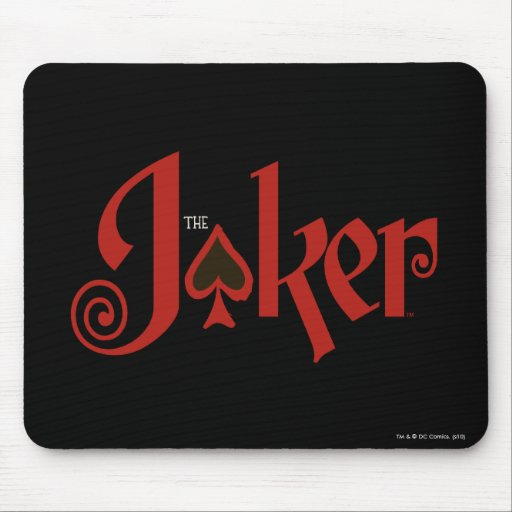 The Joker Playing Card Logo Mouse Pad