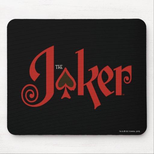 The Joker Playing Card Logo Mousepads