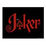 The Joker Playing Card Logo Postcard