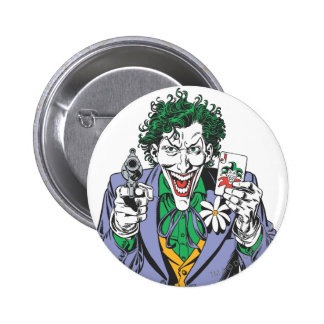 The Joker Points Gun Pinback Button