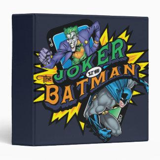 The Joker Vs Batman 3 Ring Binder