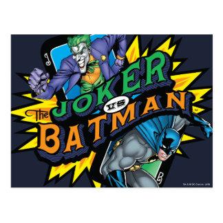 The Joker Vs Batman Postcard