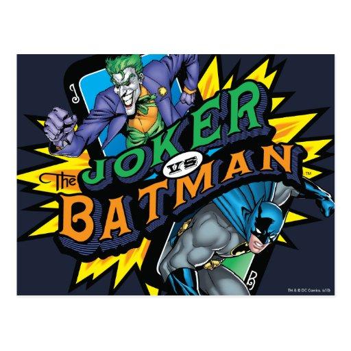 The Joker Vs Batman Post Cards