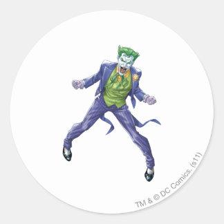The Joker Yells Classic Round Sticker