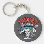 The Joker's Wild Basic Round Button Keychain