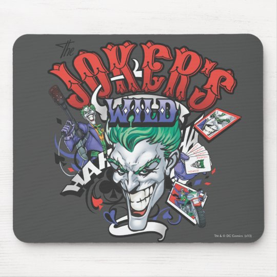 The Joker's Wild Mouse Pad