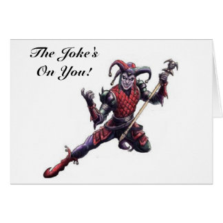 The Joke's On You Evil Jester Spirit and Staff Card