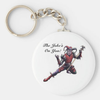 The Joke's On You Evil Jester Spirit and Staff Keychain