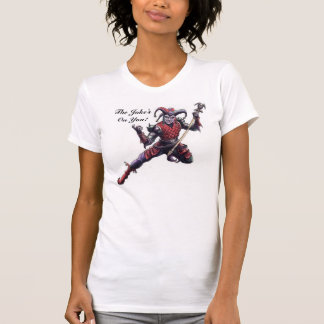 The Joke's On You Evil Jester Spirit and Staff Tee Shirt