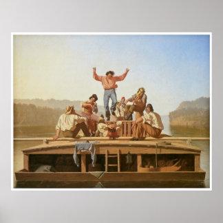 The Jolly Flatboatmen 1846 Poster