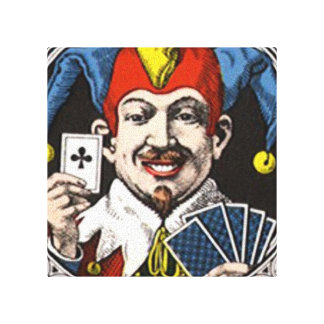 The jolly joker playing card graphic canvas print