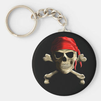 The Jolly Roger Basic Round Button Keychain