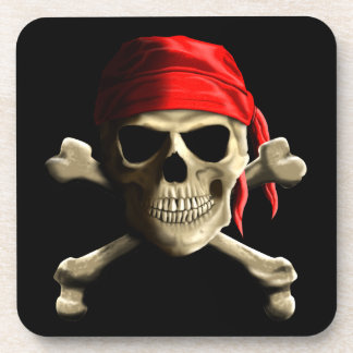 The Jolly Roger Beverage Coaster