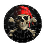 The Jolly Roger Dartboard With Darts