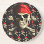 The Jolly Roger Drink Coasters